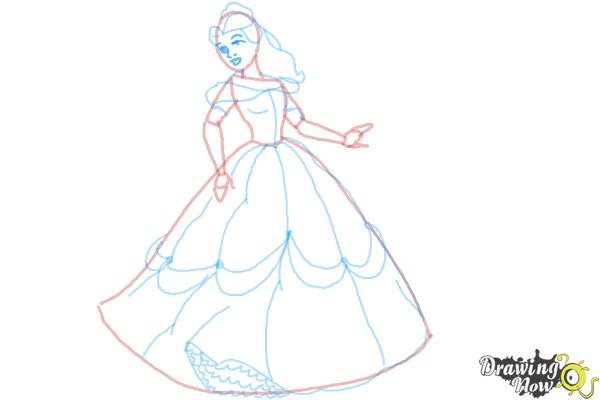 How to Draw Disney Princesses - Step 9