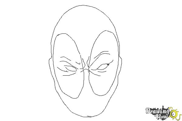 how to draw deadpool easy step 8