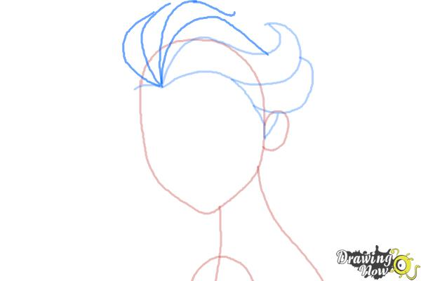 How to Draw Elsa Step by Step - Step 4