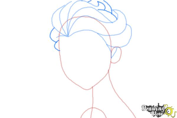 How to Draw Elsa Step by Step - Step 5