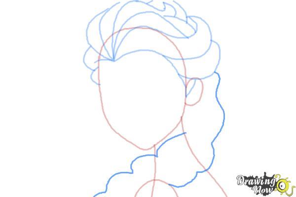 How to Draw Elsa Step by Step - Step 6