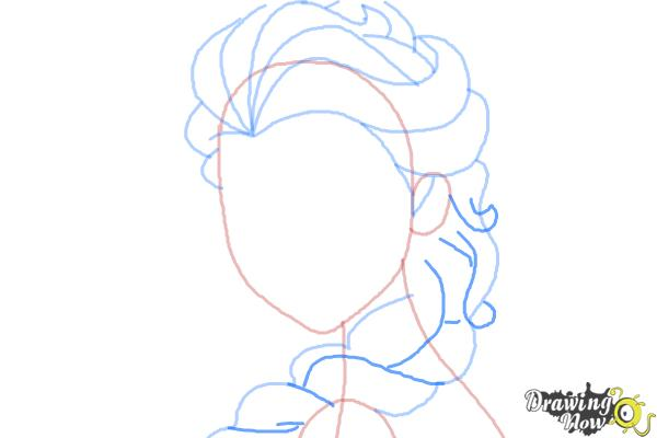 How to Draw Elsa Step by Step - Step 7