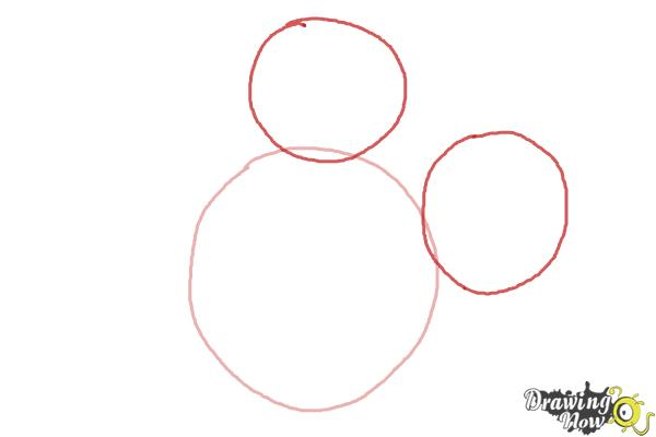 How to Draw Mickey Mouse Step by Step - Step 2
