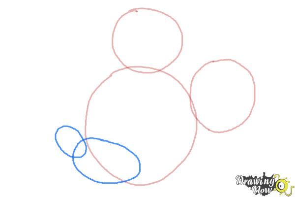 How to Draw Mickey Mouse Step by Step - Step 3