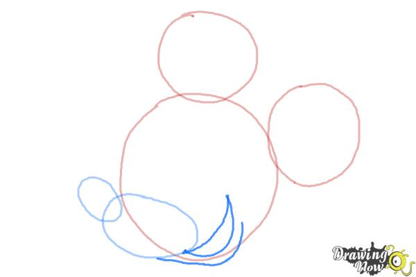 How to Draw Mickey Mouse Step by Step - Step 4