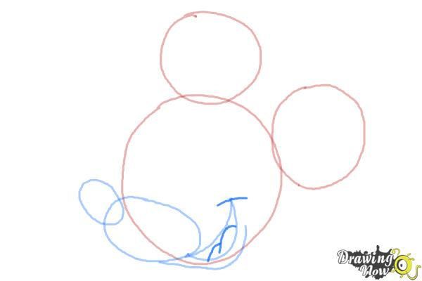 How to Draw Mickey Mouse Step by Step - Step 5