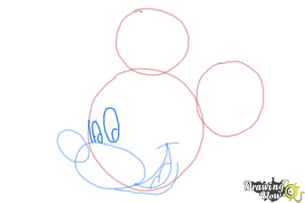 How to Draw Mickey Mouse Step by Step - Step 6