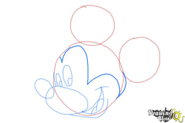 How to Draw Mickey Mouse Step by Step - Step 7