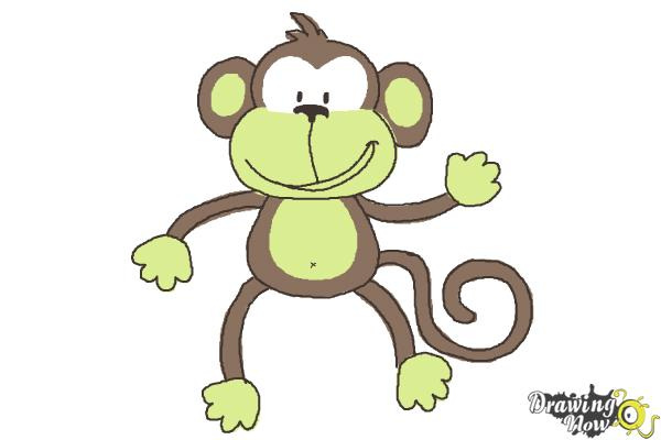 How to Draw a Monkey Step by Step | DrawingNow