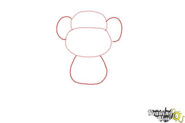How to Draw a Monkey Step by Step - Step 2