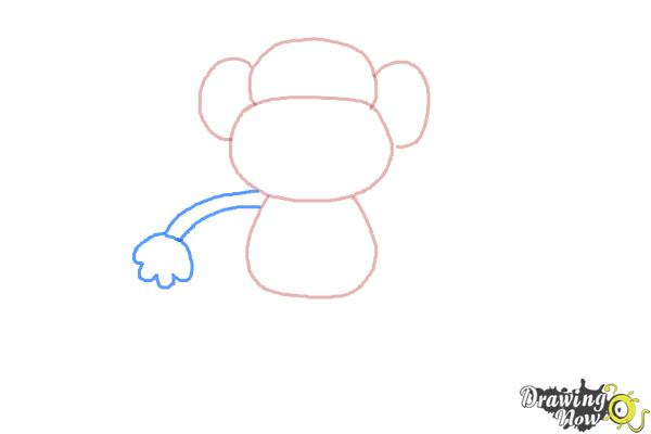 How to Draw a Monkey Step by Step - Step 3
