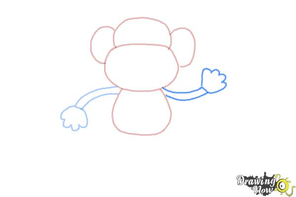 How to Draw a Monkey Step by Step - Step 4