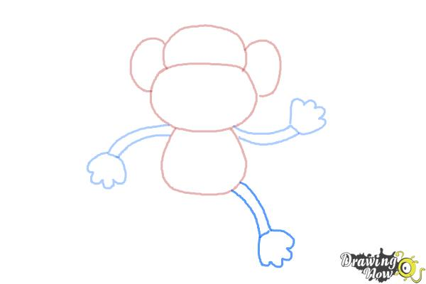 How to Draw a Monkey Step by Step - Step 5