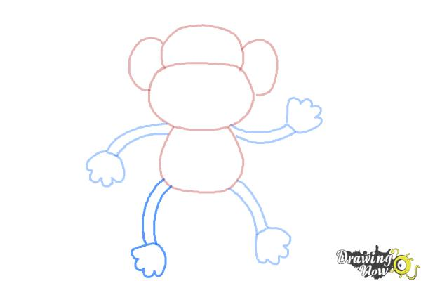 How to Draw a Monkey Step by Step - Step 6