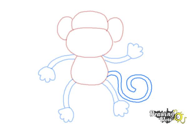 how to draw a monkey step by step step 7