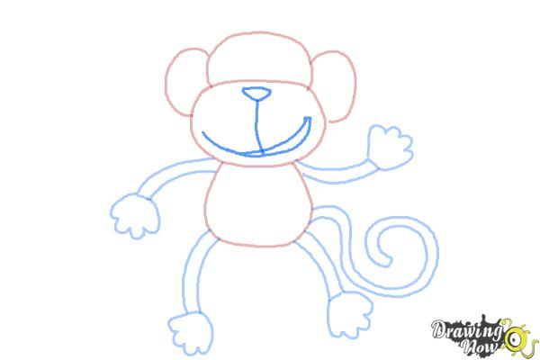 How to Draw a Monkey Step by Step - Step 8