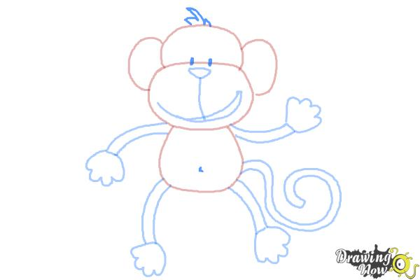How to Draw a Monkey Step by Step - Step 9