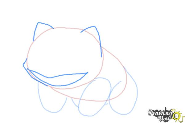 How to Draw Pokemon Bulbasaur - Step 4