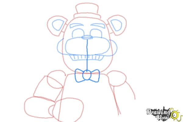 How to Draw Five Nights at Freddy's - Step 10