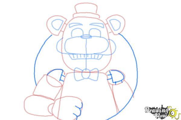How to Draw Five Nights at Freddy's - Step 11