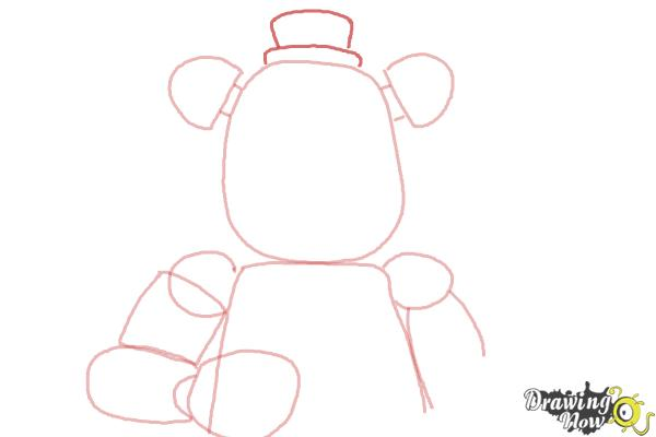 How to Draw Five Nights at Freddy's - Step 6