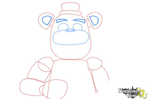 How to Draw Five Nights at Freddy's - Step 8