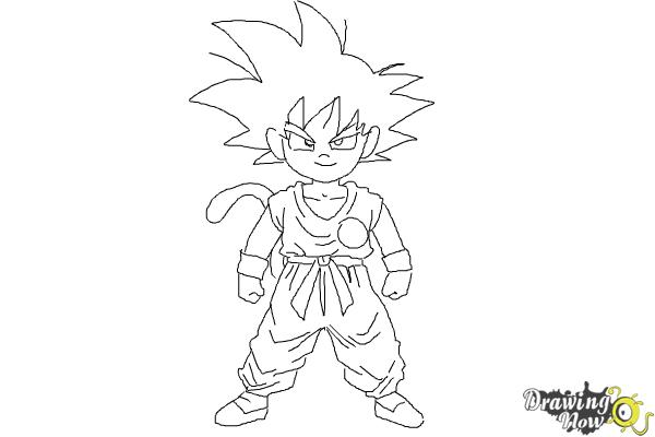 How to draw goku step by step step 10