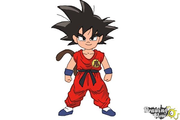 How to Draw Goku Step by Step - Step 11