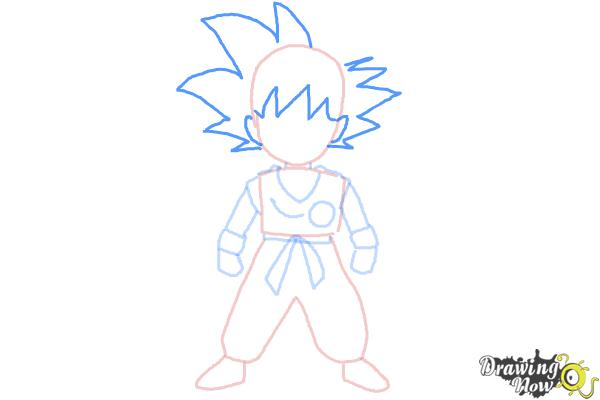 How to Draw Goku Step by Step - Step 6