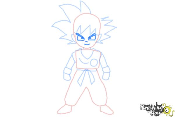 How to Draw Goku Step by Step - Step 7