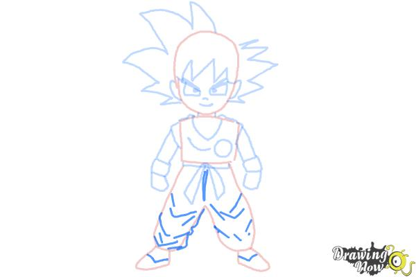 How to Draw Goku Step by Step - Step 8