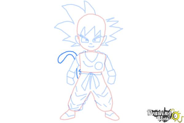 How to Draw Goku Step by Step - Step 9