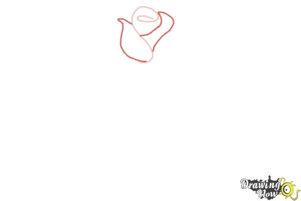 How to Draw a Rose Step by Step for Beginners - Step 2