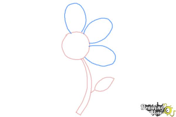How to Draw a Flower Easy - Step 4
