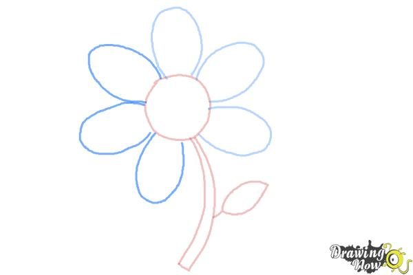 How to Draw a Flower Easy - Step 5
