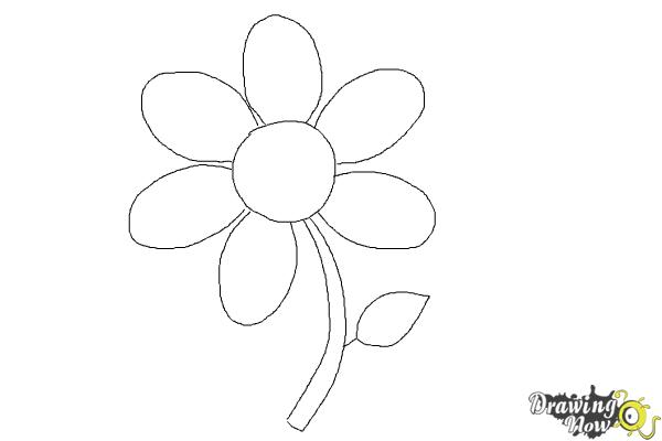 How to draw a flower easy step 6