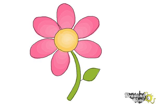 Simple Flower Drawings With Color How To Draw A Easy Drawingnow