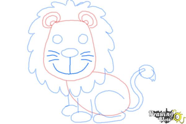 How to Draw a Lion for Kids - Step 10