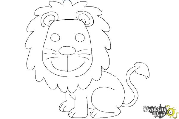 How to draw a lion for kids step 11