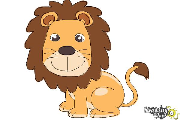 How to draw a lion for kids step 12