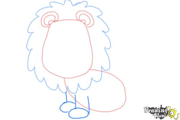 How to Draw a Lion for Kids - Step 6