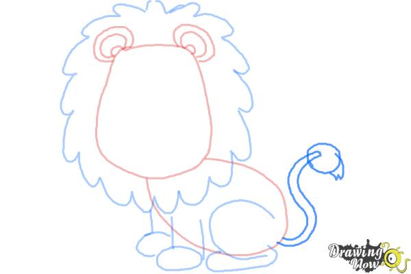How to Draw a Lion for Kids - Step 8
