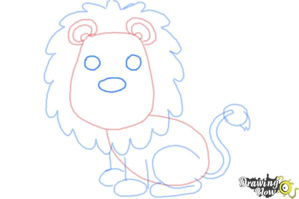 How to Draw a Lion for Kids - Step 9