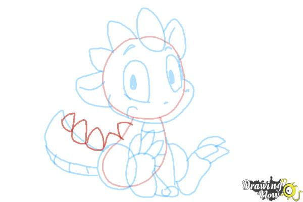 How to Draw a Simple Dragon - Step 8