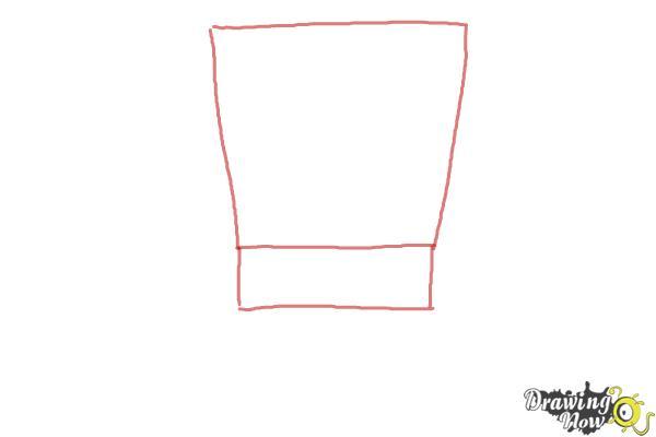 How to Draw Spongebob Squarepants - Step 1