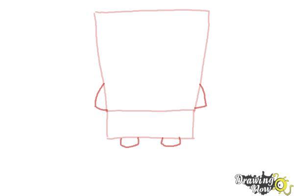 How to Draw Spongebob Squarepants - Step 2