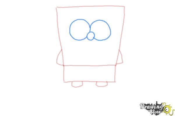 How to Draw Spongebob Squarepants - Step 3