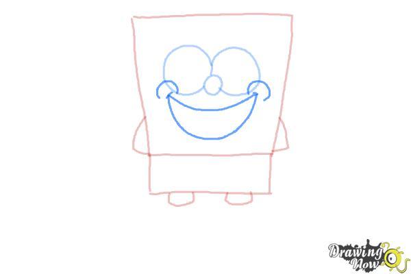 How to Draw Spongebob Squarepants - Step 4