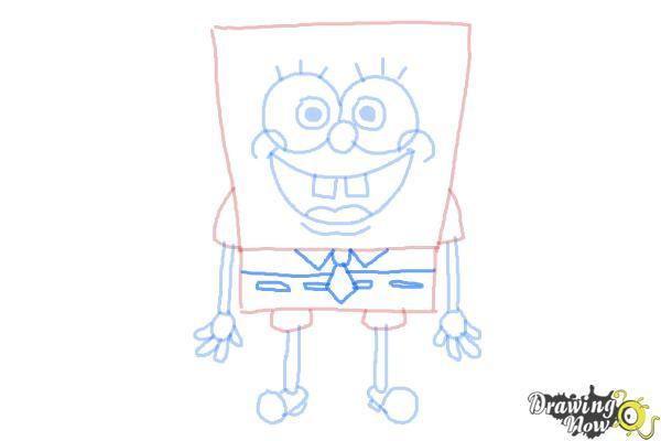 How to Draw Spongebob Squarepants - Step 9