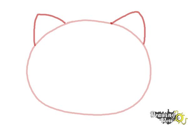 How to Draw Hello Kitty Step by Step - Step 2